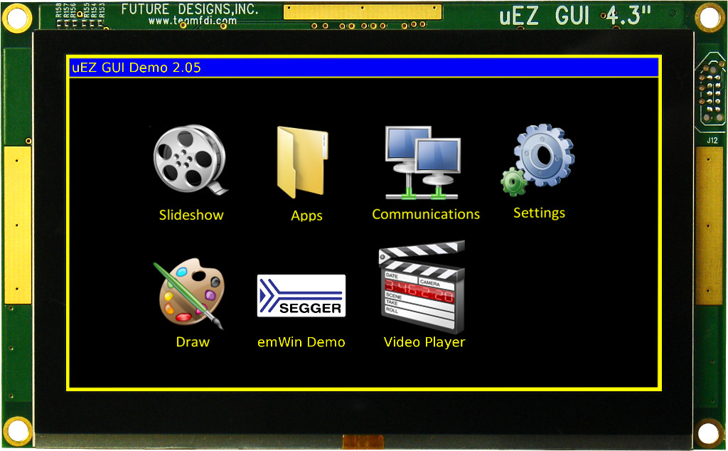 Photograph of FDI's new uEZ® GUI LPC4088